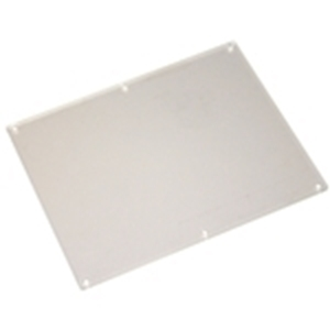 7 inch wide clear plastic screen protector for Genmega and Hantle machines.