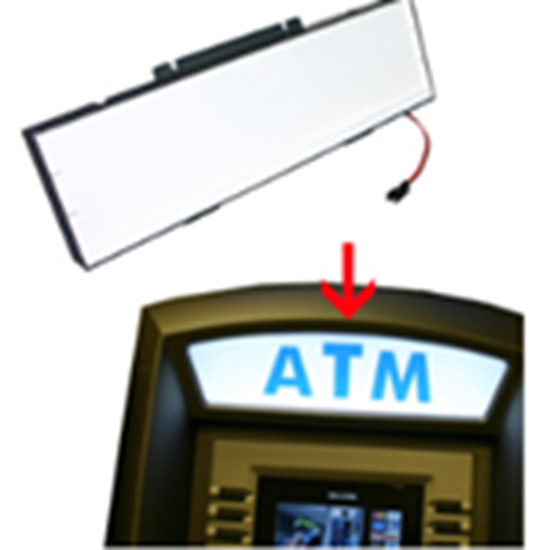 Integrated topper sign light fixture only. Bright light will give your ATM topper a fresh new look.