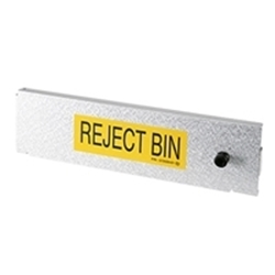 Reject bin door for 1000 note cash dispensers