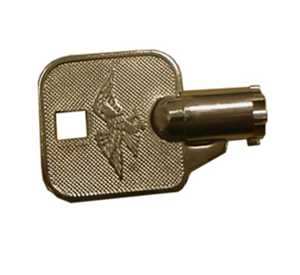 Front Bezel Barrel Key for Genmega and Hantle lock assemblies.