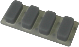 Rubber function key caps for MB 1700 Hantle ATM machines.