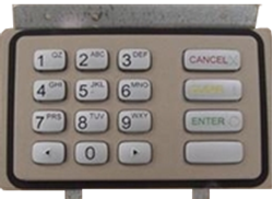 Nautilus Hyosung MB 1500 PCI compliant keypad.  Does not include the EPP Bracket.