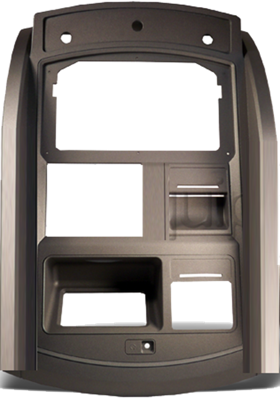 Upper bezel fascia for 1800 ATM models. This does not include electronics, mirror, or labels.