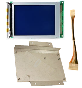 Refurbished monochrome LCD panel for Nautilus Hyosung. This includes the mounting bracket and adapter cables. This does not include the inverter.