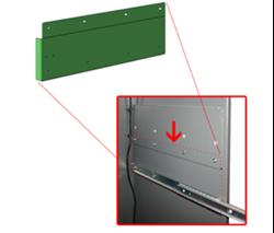 HCDU left or right bracket upgrade kit for Genmega and Hantle ATM models.