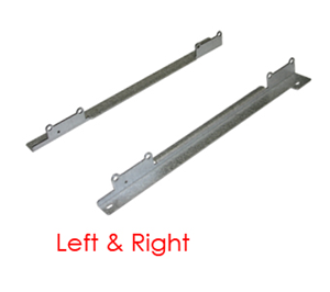 Right and left MCDU mounting cash dispenser rails.