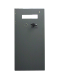 Vault door with t-handle for Genmega and Hantle ATM models.  Does not include note guide, lock assembly, or bezel.