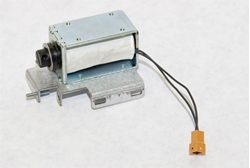 Reject gate solenoid assembly for Nautilus Hyosung 1000 note and 2000 note dispensers.