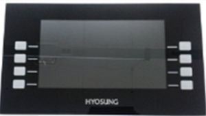 Nautilus Hyosung black and clear acrylic protector for NH 2700CE & NH 2700T.