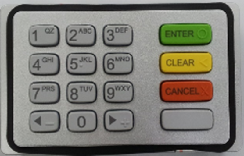 PCI Certified Keypad for Halo ATM's.