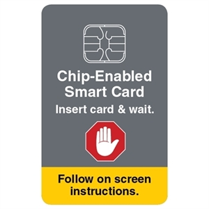 "Picture of ATM Decal - Insert EMV Card and Wait 2"" x 3"""