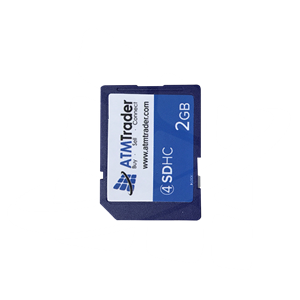 Secure digital memory card 2GB SD card, used for installing software and graphics on ATM Machines - View 1