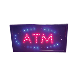 ATM LED Sign - Blue, Red
