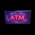 ATM LED Sign - Blue, Red