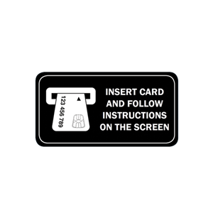 "ATM Decal - EMV Instructions 2.625"" x 1.325"""