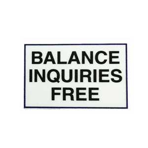 ATM Decal - Free Balance Inquiries