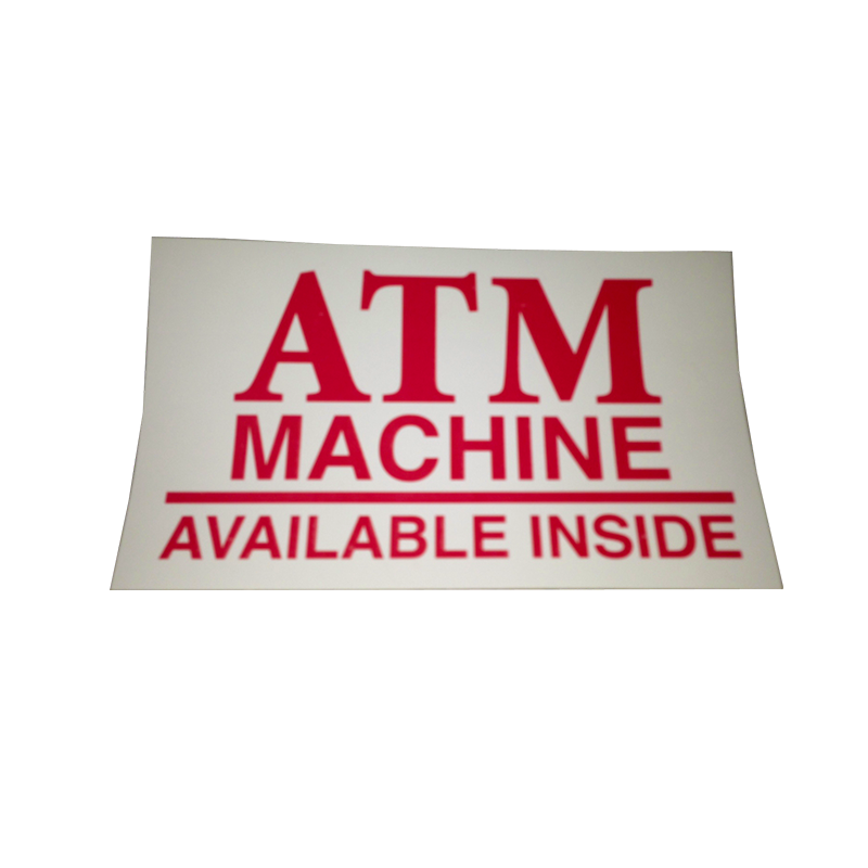 ATM Decal