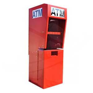 Outdoor ATM Kiosk with Lighted Topper
