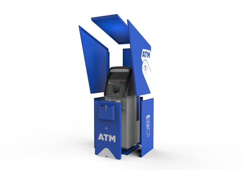 Modular ATM Armor Shield Enclosure