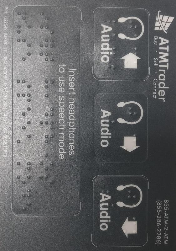 ADA ATM Decal